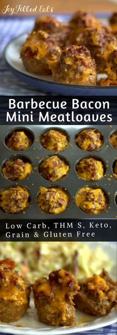 Barbecue Bacon Mini Meatloaves - Low Carb, Grain Free, THM S, Gluten Free, Keto - My BBQ Bacon Mini Meatloaves are a great weeknight dinner but they also look fancy enough for a special occasion. They are the perfect size for kids and with bacon and cheddar, they are approved by the ones in my house.