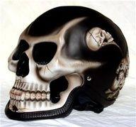 tête de mort skull Casque moto