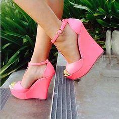 #pink wedges