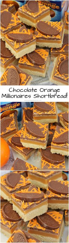 Shortbread recipes - Terry's Chocolate Orange Shortbread! Buttery Orange flavoured Shortbread, Delicious Homemade Caramel, and Terry's Chocolate Orange Goodness on top Perfect Christmas Traybake! Baking Recipes, Cake Recipes, Dessert Recipes, Food Cakes, Yummy Treats, Sweet Treats, Yummy Food, Terry's Chocolate Orange, Palette Deco