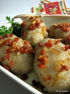 Tasty Pyza: Best dumplings with meat aka zeppelins or kartacze I Love Food, Good Food, Yummy Food, Drink Recipe Book, Lithuanian Recipes, B Food, Polish Recipes, Food Inspiration, Quiche