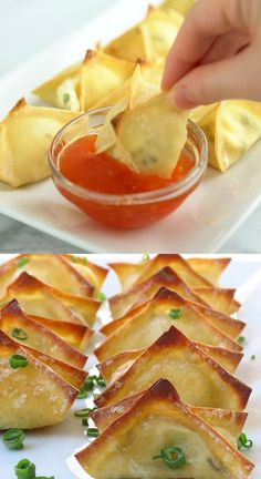 Finger Foods, Finger Food Appetizers, Yummy Appetizers, Appetizer Recipes, Snack Recipes, Cooking Recipes, Wonton Recipes, Homemade Cake Recipes, Keto Recipes