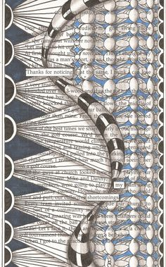 Blackout Poetry is so much fun and so easy to do. Find an old book, choose a page, select words from the page that reflect your feelings, . Book Page Art, Book Pages, Altered Books Pages, Found Poetry, Poetry Art, Poetry Quotes, Quotes Quotes, Zentangle Patterns, Zentangles