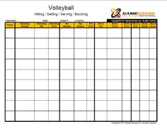 volleyball stat sheets