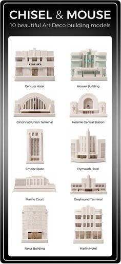 10 beautiful Art Deco building models