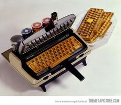 Ctrl+Alt+Delicious… Keyboard shaped waffle iron for your favorite computer geek