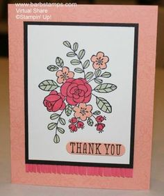 Lovely colors in Barb's So Very Grateful card. All supplies from Stampin' Up!