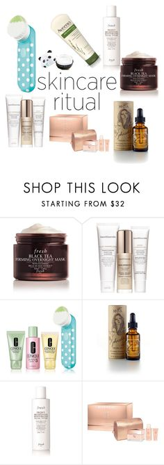"""""""Skincare ritual"""" by chairityj-1 ❤ liked on Polyvore featuring beauty, Fresh, Bare Escentuals, Clinique, MOA Magic Organic Apothecary, Givenchy, Aveeno and TONYMOLY"""