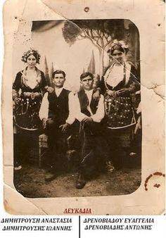 Πολιτιστικός Σύλλογος Λευκαδίων ''ΑΓΙΑ ΠΑΡΑΣΚΕΥΗ'': Παλιές Φωτογραφίες με παραδοσιακά ρούχα-Λευκάδια