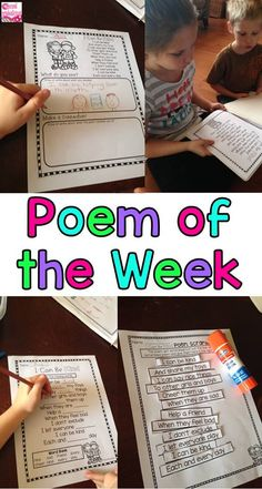 Poem of the Week - Check out these Poem of the Week packs for first and second grade poetry! Poems and activities for the whole year! It's a great way to incorporate poetry every day... can be used for shared reading, word work, daily 5, literacy stations, and more! first grade reading, second grade reading $