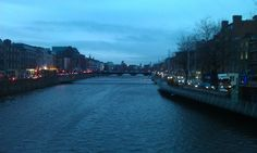 The River Liffey in Dublin at night