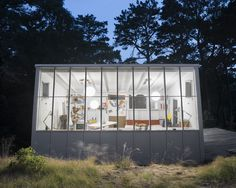 james lechay house in wellfleet, ma - cape cod interiors: exteriors of main house and artist studio: studio: james lechay's home and artist studio was built by bauhaus architect hayden walling in Cape Code, Melbourne, Modern Books, Built In Microwave, Up Book, Boutique Homes, Vacation Home Rentals, Mid Century House, Maine House