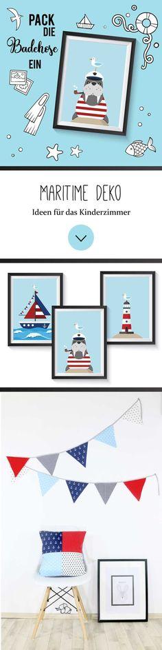 Wandbild zur maritimen Dekoration mit Knoten aus Canvas und Holz 35 cm