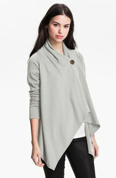 Asymmetrical Fleece Wrap Cardigan - Nordstrom #blackfriday