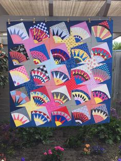 Here is my latest quilt top finish! I had been collecting ideas on Pinterest, and this one, with angled blocks, seeme...