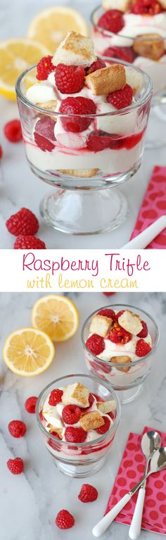 Sweet, tart, creamy and delicious...this amazing Lemon Raspberry Trifle recipe has it all!