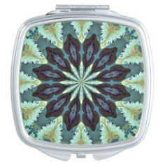 Square compact mirror for your purse or makeup bag. Match it up with the compact purse in my store.