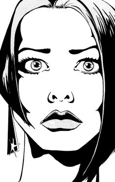 Lauren Bacall by Brian Michael Bendis. I like this simply because I wasn't expecting it.