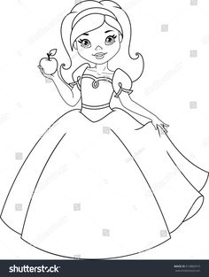 Snow White Coloring Page Coloring For Kids, Coloring Books, Snow White Coloring Pages, Baby Sketch, Baby Princess, Fabric Painting, Cute Wallpapers, Art Drawings, Crafts For Kids