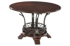 """The Alyssa Dining Room Table from Ashley Furniture HomeStore (AFHS.com). The """"Alyssa"""" dining room collection combines ornate scrolling details and rich finishes to create furniture that is sure to magically transform the beauty of your dining environment."""