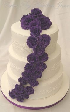 Purple Cadbury Rose Wedding Cake