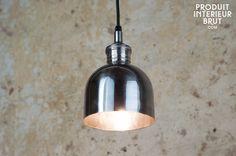 Lustre de comptoir argenté - Une lampe suspendue avec le charme du style vintage