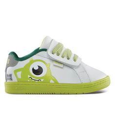 Take a look at this White & Green Monsters University Fader Sneaker  - by etnies on #zulily today!
