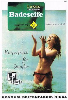 Konsum Seifenfabrik Riesa * RIWA * Badeseife Werbung 1970 DDR Reklame