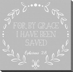Scripture Canvas For by Grace 10x10 by thearmorofGod on Etsy, $35.00