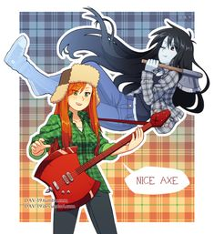 """""""Gravity Falls - Adventure Time"""" // Wendy and Marceline Gravity Falls Crossover, Gravity Falls Anime, Fandom Crossover, Fanart, Adventure Time, Dipper E Mabel, Jake The Dogs, Cartoon Crossovers, Bubbline"""