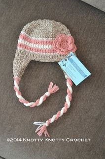 Knotty Knotty Crochet FREE PATTERN ---- scroll down, & there's a hat sizing chart, too!