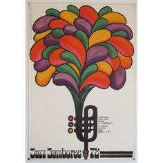 ORIGINAL VINTAGE FILM POSTERS - EYE SEA POSTERS / Jazz Jamboree 72 - original Polish poster