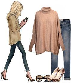 Seams Right Turtleneck Sweater - Mocha