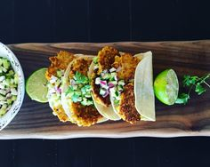 Corn Fritter Tacos w