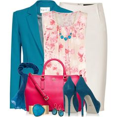 Teal & Fuchsia, created by brendariley-1 on Polyvore