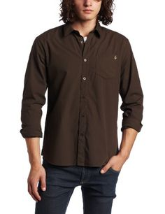 Volcom Men's X Factor Solid Long Sleeve Shirt $14.68 - $52.95