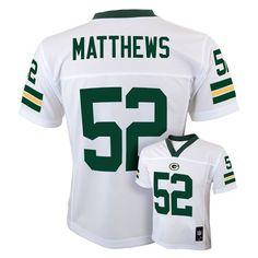 Clay Matthews Green Bay Packers White NFL Kids 2013 Season Mid-tier Jersey (Kids 5/6) OuterStuff http://www.amazon.com/dp/B00CBKCC1M/ref=cm_sw_r_pi_dp_1GUdxb0FJYR9Y