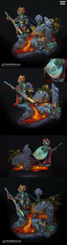 Wish I could paint like that.  Impressive.  [winner of coolminiornot space marine painting competition]