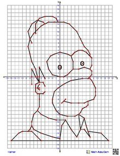 Pikachu from Pokemon Coordinate Graphing Picture4 quadrant graphing ...