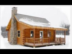 ▶ What I picture most from Bob's cabin.  I do like the porch.  His would not be this nice though. Pre Built Hunting Cabins Under $10,000 - YouTube