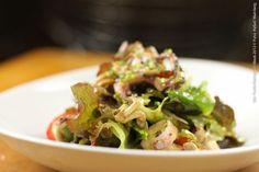 Twelve Bistro (jantar)    Salada de polvo picante com Shimeji, tomate cereja e Mix folhas