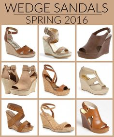 I've got a HUGE roundup of fabulous neutral wedge sandals for spring 2016 at all heel heights and price points. Click through for shopping links.