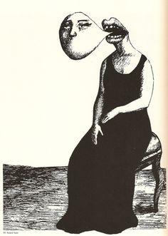 By Roland Topor #eerie #creepy #illustration