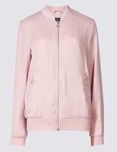 Slinky Twin Pocket Bomber Jacket | Marks & Spencer London