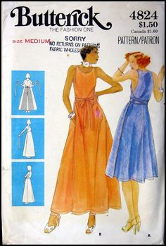 Vintage 1970s Wrap Dress Pattern