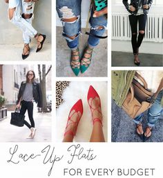 Lace-Up Flats for Every Budget #fall #fashion