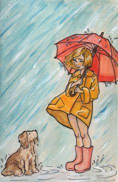 morton salt girl | Morton salt girl...oops. by BrigidAllanson on deviantART When it rains, it pours.