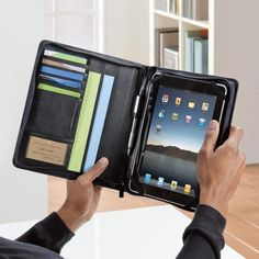 Tablet Portfolio for iPad and iPad 2 Tablets     Office-on-the-go holds your iPad® tablet.