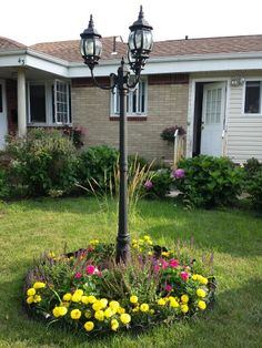 Lamp post garden design by Carin M. Diaz