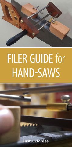 Filer Guide for Hand-Saws  #woodworking #tools